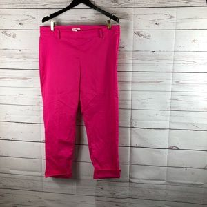 📦H&M Fuchsia size 16 ankle slim pants